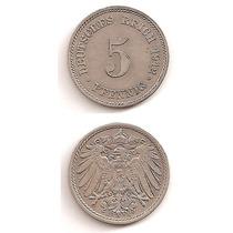 Moneda Alemania 5 Pfennig 1912 E