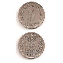 Moneda Alemania 5 Pfennig 1912 F