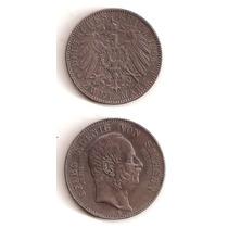 Moneda Alemania Sachsen 2 Marcos 1904 E De Plata