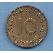 Alemania Nazi Moneda 10 Reichspfennig 1938 E - Km#92