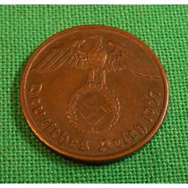 Alemania Nazi 2 Reichspfenig 1937 D Terc. Reich - Cap Y Pcia