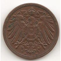 Alemania Imperio, 2 Pfennig, 1912 D. Vf+ / Xf