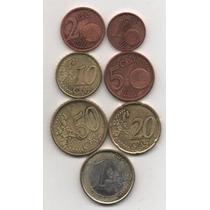 Lote De 7 Monedas Alemanas Euros 2002(g) S/c Mm1124