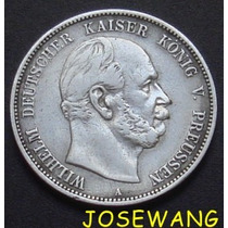 5 Mark . Moneda Antigua Alemana Del Año 1876 Plata