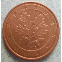 Moneda De Alemania De 5 Centavos De Euro Año 2002 Km#209
