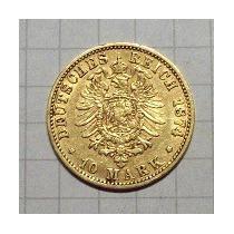 Prusia Alemania 10 Marcos De Oro 1874 C 4 Gr.