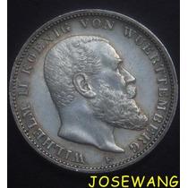 3 Mark. Moneda Antigua Alemana Del Año 1910 Plata