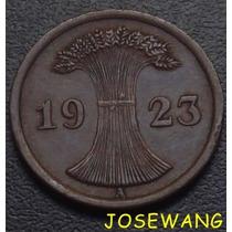 2 Reichspfennig, Moneda Antigua Alemana Del Año 1923