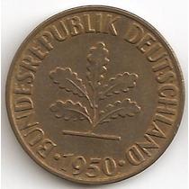 Alemania, 10 Pfennig, 1950 F. Sin Circular