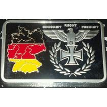 Alemania Onza Lingote Bañado Plata Bundesrepublik Reichsbank