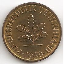 Alemania, 10 Pfennig, 1950 D. Sin Circular