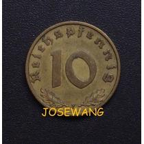 10 Reichspfennig, Moneda Alemana Del Año 1938