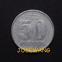 50 Pfennig, Moneda Antigua Alemana Del Año 1958