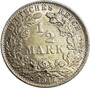 Chinacoins / Imperio Alemán 1/2 Mark 1917 Plata Km#17 Berlín