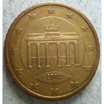 Moneda De Alemania De 50 Centavos De Euro Año 2002 Km#212