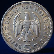 Guardia Imp. Alemania 3er Reich 5 Mark 1936 Aguila Plata