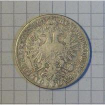 Austria 1 Florin Plata 1860 Km-2219 12 Grms