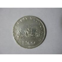 Moneda Italia 500 Liras Plata