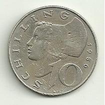 Austria 10 Shilling 1986 Excelente