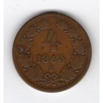 Austria 4 Kreuzer Año 1864