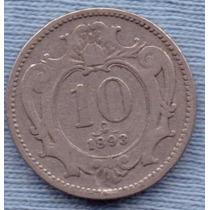Austria 10 Heller 1893 * Imperio Austro-hungaro *