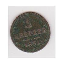 Austria: Km #2185 - 1 Kreuzer - E (1851) Bc+ / F+