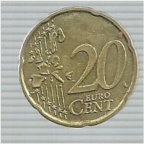 Belgica 20 Centavos 2002