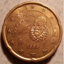 Moneda Del Reino De España De 20 Centavos Euro Del Año 1999