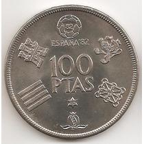 España, 100 Pesetas, 1980 (80). Mundial Futbol. Sin Circular