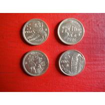 Lote 4 Monedas De 5 Pesetas