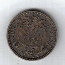 España Moneda De 1 Peseta 1947 Estrella 52 !!!!!!!!!!!!!!
