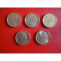 Lote 5 Monedas De 5 Pesetas 1991