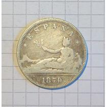 España 2 Pesetas Plata 1870 10 Gr