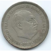 Moneda De España 50 Pesetas 1957 (58) Muy Buena