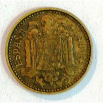 Moneda De España 1 Peseta - 1944 - En Mendoza