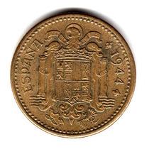 Moneda España 1 Peseta 1944 Km#767