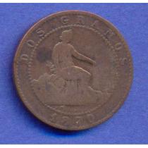 España 2 Centimos 1870 * Alfonso Xii *