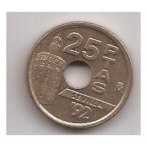 España Moneda De 25 Pesetas Año 1992 !!