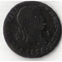 España, Fernando V I I, 2 Maravedis 1828, Segovia