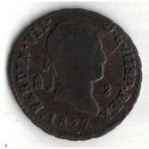 España, Fernando V I I, 2 Maravedis 1827, Segovia