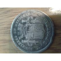 Moneda Española De 2 Pesetas De1870 Plata