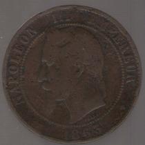 Francia 10 Centimes 1863 Bb B-