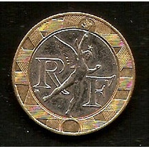 Francia - 10 Francos - Moneda Bimetálica De 1990 !! -