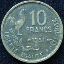 Francia - 10 Francos Año 1951..................... Blamanan