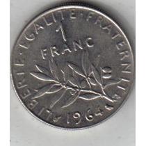 Francia Moneda De 1 Franco Año 1964 !!!