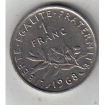 Francia Moneda De 1 Franco Año 1968 !!!!