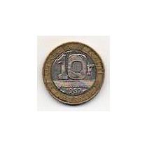 Francia 10 Francos Año 1989 Bimetálica Mm 1216