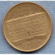 Italia 200 Lire 1990 * Edificio Del Consejo Estatal *