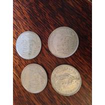 Monedas Francia 100 Francs 3 Monedas Del 54 + 1 Franc Suizo