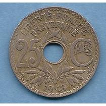 Francia, Moneda De 25 Centimes Del Año 1918 - Km#867a - Cuni